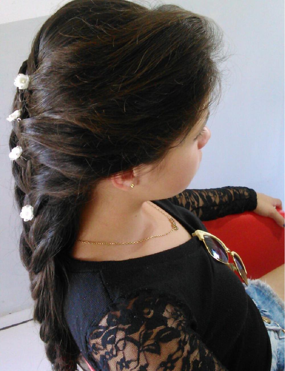 Penteado realizado no curso Penteados com Prática com Dilmar Pereira